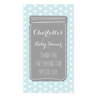 Tag cinzentos do favor do chá de fraldas do frasco cartões de visitas