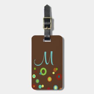 Tag colorido Monogrammed da bagagem dos pontos Etiquetas Para Malas