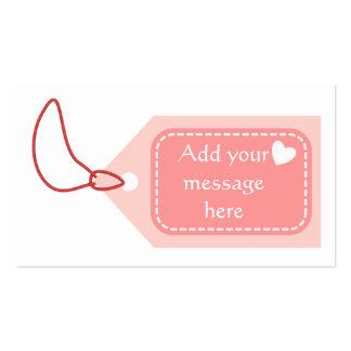 Tag cor-de-rosa cartão de visita
