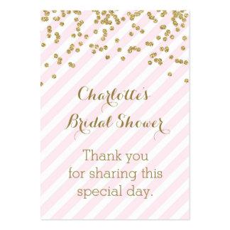 Tag cor-de-rosa do favor do chá de panela das cartão de visita grande