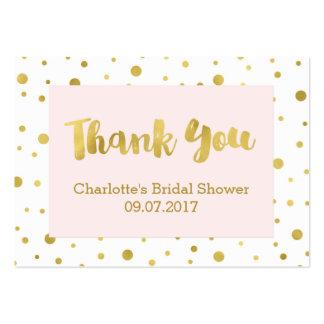 Tag cor-de-rosa do favor do chá de panela dos cartão de visita grande