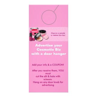 Tag cosméticos da promoção do GANCHO de PORTA da 10.16 X 22.86cm Panfleto