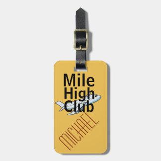Tag customizável engraçado da bagagem do clube etiqueta de bagagem