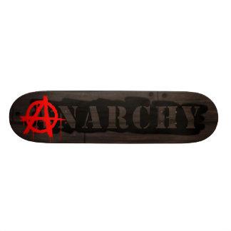 Tag da anarquia shape de skate 19,7cm