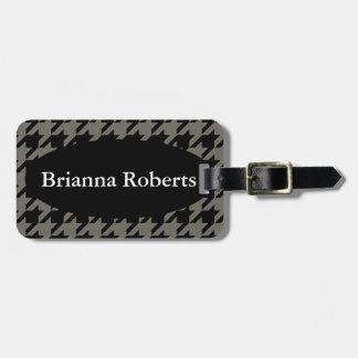 Tag da bagagem com correia de couro - alguma cor etiqueta de bagagem