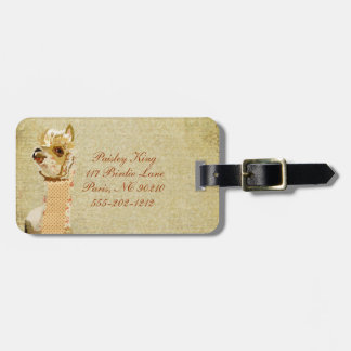 Tag da bagagem da alpaca do vintage tags para malas