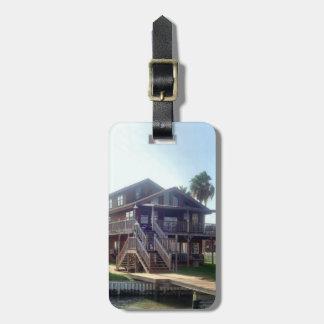 Tag da bagagem da casa da baía etiqueta de bagagem