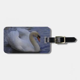 Tag da bagagem da cisne etiqueta de bagagem