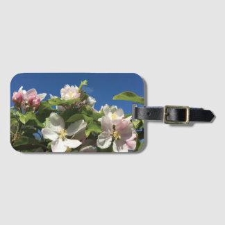 Tag da bagagem da flor do céu etiqueta de bagagem