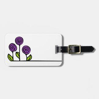 Tag da bagagem da flor etiqueta de bagagem