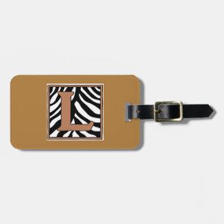 Tag da bagagem da L-Zebra Etiqueta De Mala