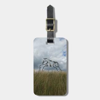 Tag da bagagem do cavalo etiqueta de bagagem