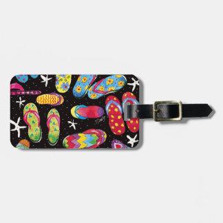 Tag da bagagem do divertimento do flip-flop tags para bagagens