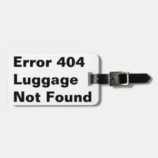Tag da bagagem do humor da piada do erro 404 tags de mala