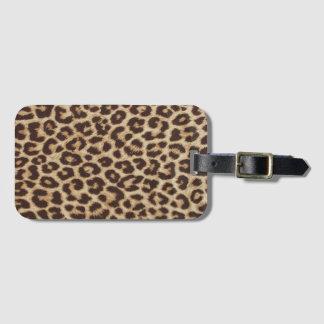 Tag da bagagem do impressão do leopardo tag de mala