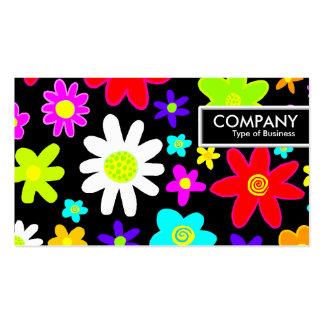 Tag da borda - flores dos desenhos animados cartão de visita