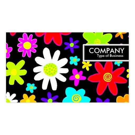 Tag da borda - flores dos desenhos animados cartoes de visita