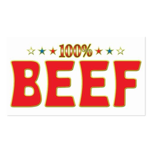 Tag da estrela da carne cartões de visita