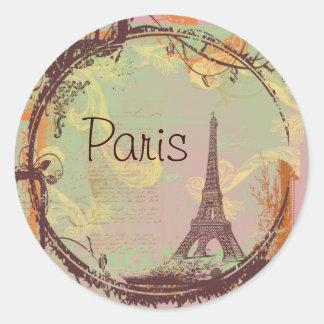 Tag das etiquetas da torre Eiffel de Paris Adesivo