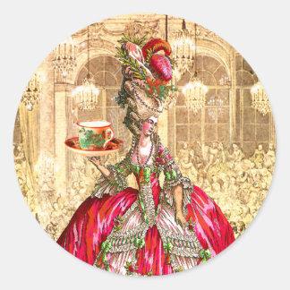 Tag das etiquetas do Natal do tea party de Marie Adesivo