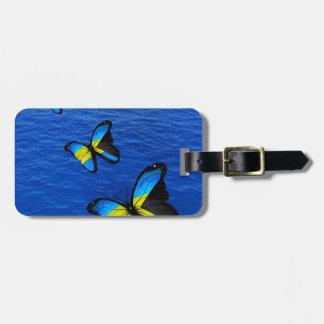 Tag de bagagem da borboleta de Bahamas