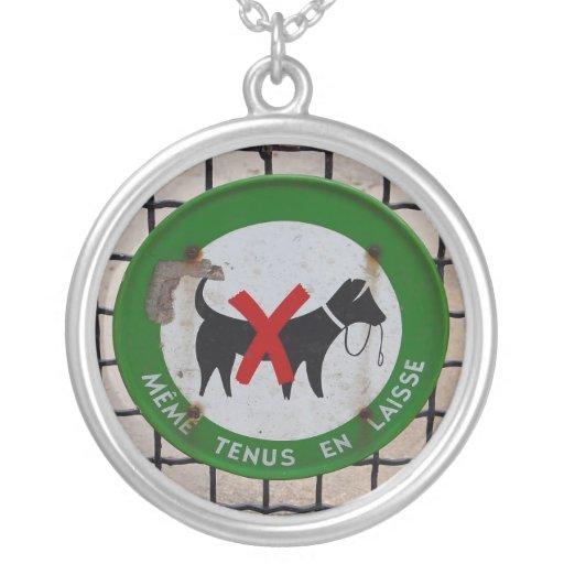 Tag de cão de Paris Bijuteria Personalizada