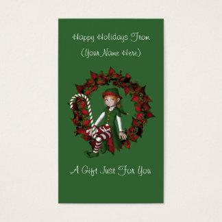 Tag do cartão de presente de época natalícia do