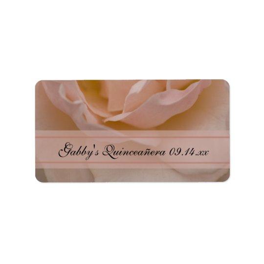 Tag do favor de Quinceañera do rosa do rosa Etiqueta De Endereço