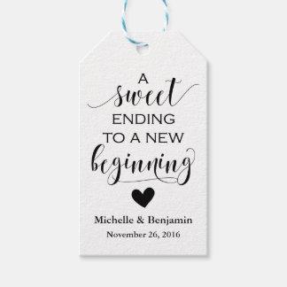 Tag do favor do casamento - começo novo do término