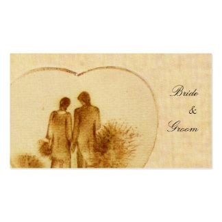 Tag do favor do casamento vintage cartão de visita
