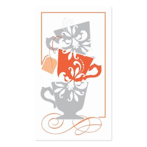 Tag do favor do chá de panela - chá modelos cartao de visita