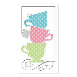 Tag do favor do chá de panela - chá cartão de visita