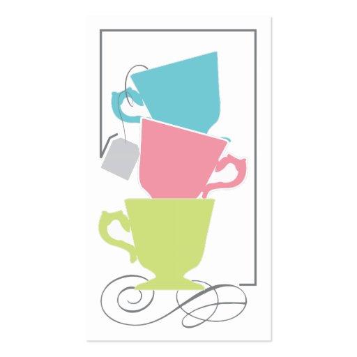 Tag do favor do chá de panela - chá modelos cartões de visita