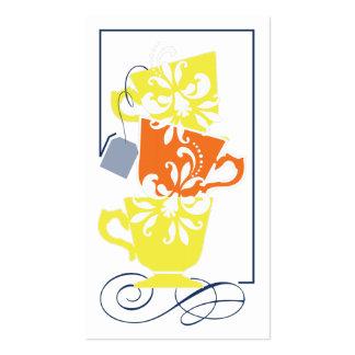 Tag do favor do chá de panela - chá cartões de visita