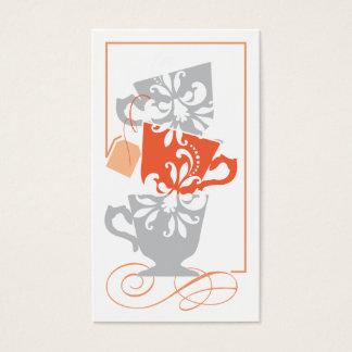 Tag do favor do chá de panela - chá cartão de visitas