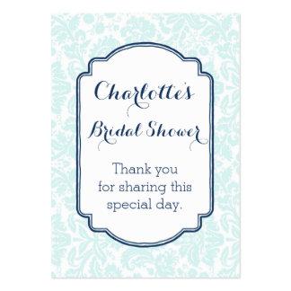 Tag do favor do chá de panela do damasco dos cartão de visita grande