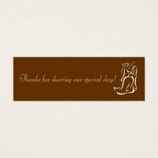 Tag do favor do chocolate de Bride&Groom Cartão De Visitas Mini