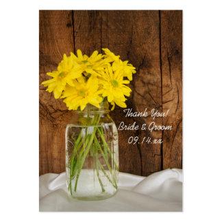 Tag do favor do frasco de pedreiro e do casamento  cartão de visita grande