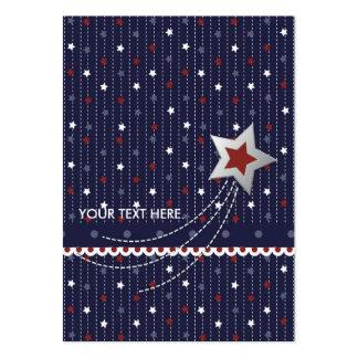 Tag do presente da bandeira dos Estados Unidos Cartão De Visita