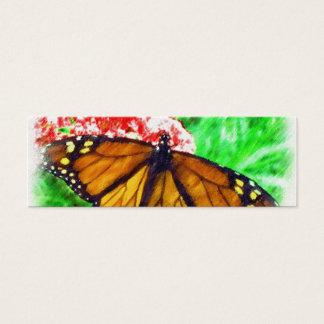 Tag do presente da borboleta cartão de visitas mini