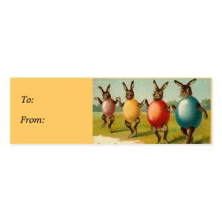 Tag do presente da cesta da páscoa dos coelhos da  cartões de visitas