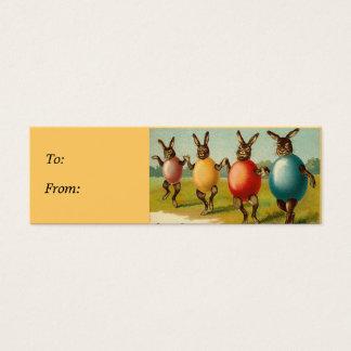 Tag do presente da cesta da páscoa dos coelhos da cartão de visitas mini