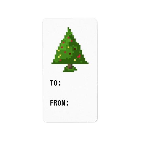 Tag do presente da etiqueta da árvore de Natal do