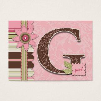 Tag do presente da menina TY de G Cartão De Visitas