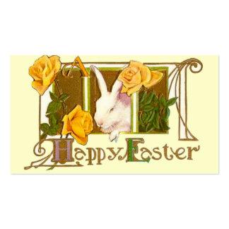 Tag do presente da páscoa cartões de visitas