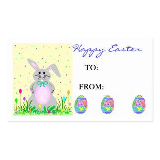 Tag do presente da páscoa cartão de visita