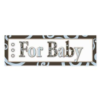 Tag do presente do bebé do cavalo marinho cartão de visita skinny