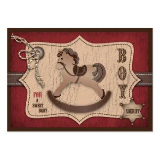 Tag do presente do bebê do vaqueiro cartão de visita grande