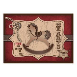 Tag do presente do bebê TY do vaqueiro Cartão De Visita Grande