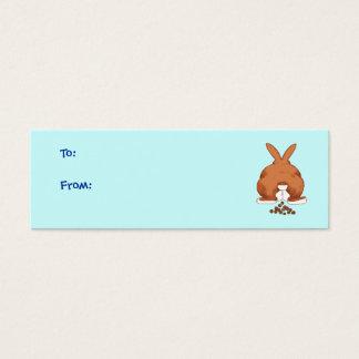 Tag do presente do bumbum do coelho cartão de visitas mini